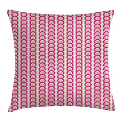 Circle Vibranted Vertical Square Pillow Cover Size: 18 x 18