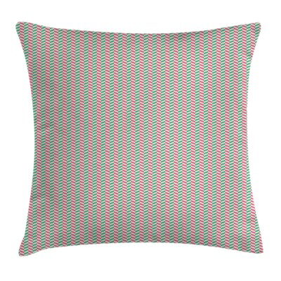 Stripes Square Pillow Cover Size: 18 x 18