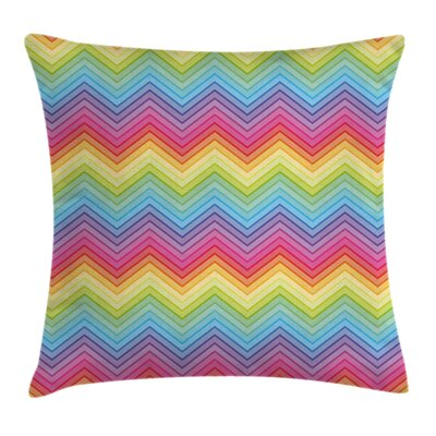 Chevron Square Pillow Cover Size: 24 x 24