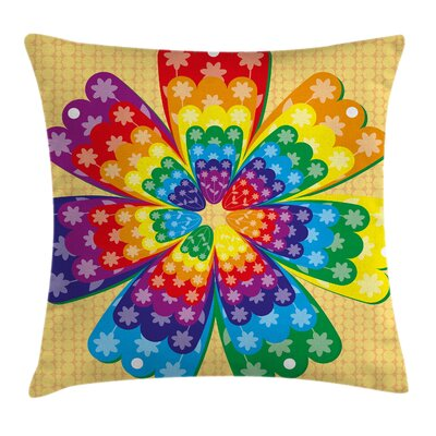 Rainbow Pillow Cover Size: 18 x 18