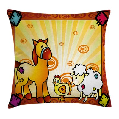 Cartoon Square Pillow Cover Size: 16 x 16