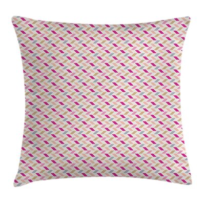 Short Cut Skewed Lines Square Pillow Cover Size: 16 x 16