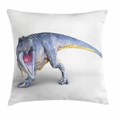 Dinosaur Monstrous Creature Square Cushion Pillow Cover Size: 20 x 20