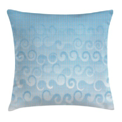 Spiral Circles Dots Square Pillow Cover Size: 18 x 18
