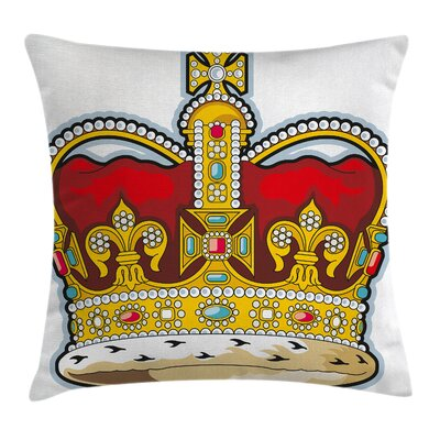 Heraldry Medieval Forms Stones Cushion Pillow Cover Size: 24 x 24