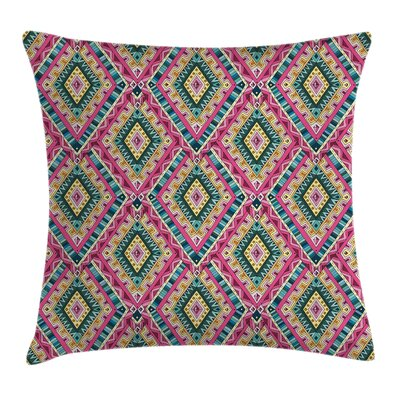 Ethnic Geometric Doodle Square Pillow Cover Size: 18 x 18