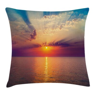 Dawn Sea Tranquil View Square Pillow Cover Size: 24 x 24