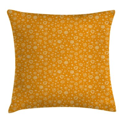 Sketchy Cheerful Kids Room Cushion Pillow Cover Size: 18 x 18