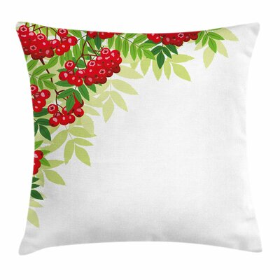 Bunch of Ripe Berries Square Pillow Cover Size: 24 x 24