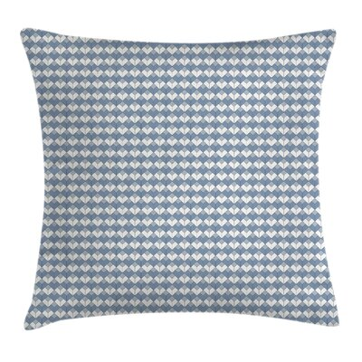Diamond Line Modern Square Pillow Cover Size: 16 x 16