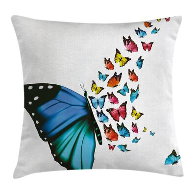 Butterfly Concept Art Monarch Square Pillow Cover Size: 16 x 16