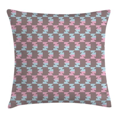 Modern Geometric Pillow Cover with Zipper Size: 18 x 18