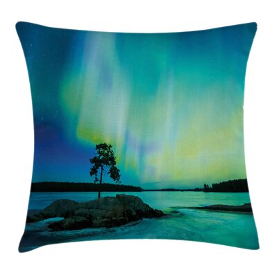Rocky Stone by River Cushion Pillow Cover Size: 18 x 18