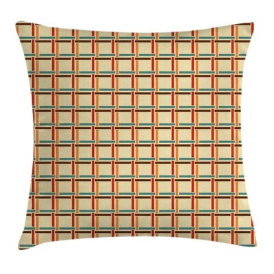 Linked Lines Cushion Pillow Cover Size: 18 x 18
