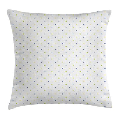 Small Pastel Polka Dots Cushion Pillow Cover Size: 24 x 24