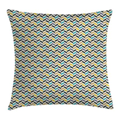 Chevron Vertical Herrigbone Square Pillow Cover Size: 24 x 24