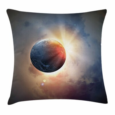 Days Circle Planet Sun Square Pillow Cover Size: 18 x 18