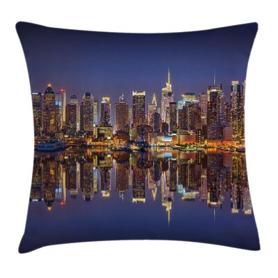 New York City USA Cushion Pillow Cover Size: 24 x 24