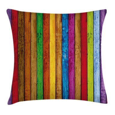 Wooden Artistic Square Pillow Cover Size: 20 x 20
