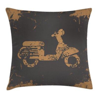 Grunge Murky Vintage Sports Cushion Pillow Cover Size: 16 x 16