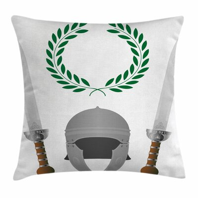 Roman Glory Heritage Square Cushion Pillow Cover Size: 18 x 18