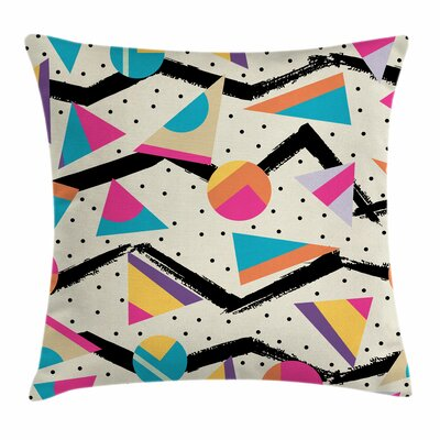 80s Funky Memphis Fashion Square Cushion Pillow Cover Size: 16 x 16