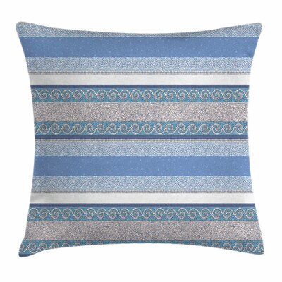 Mosaic Borders Art Square Cushion Pillow Cover Size: 16 x 16