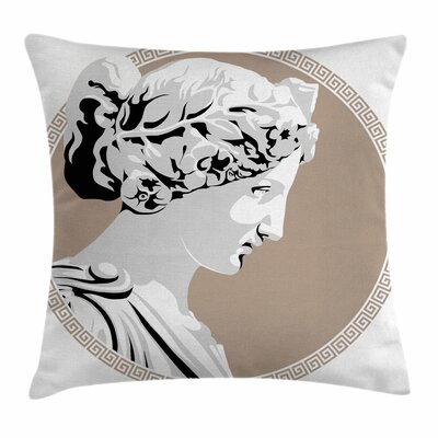 Goddess Statue Folk Square Cushion Pillow Cover Size: 20 x 20