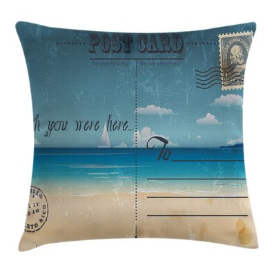 Postcard Pillow Cover Size: 20 x 20