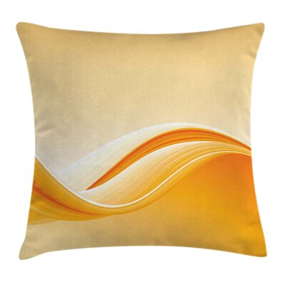 Vibrant Waved Line Square Pillow Cover Size: 24 x 24