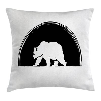 Big Polar Bear Walking Cushion Pillow Cover Size: 24 x 24