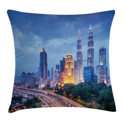 Skyline Road Square Pillow Cover Size: 24 x 24
