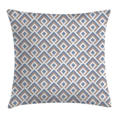 Modern Nested Squares Square Pillow Cover Size: 18 x 18