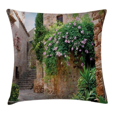 Floral Alley Pillow Cover Size: 20 x 20