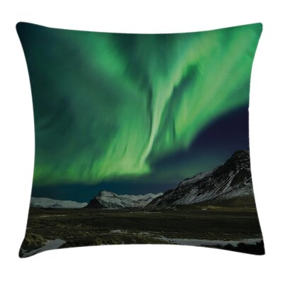 Mountain Pillow Cover Size: 18 x 18