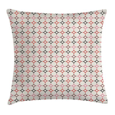 Modern Hexagonal Shaped Lines Square Pillow Cover Size: 24 x 24