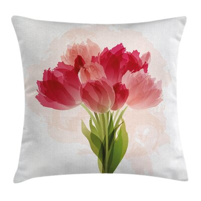 Modern Flower Pillow Cover Size: 18 x 18