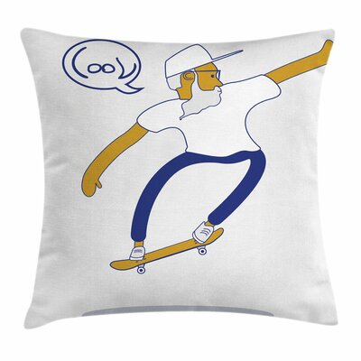 Cool Hipster Skater Urban Square Cushion Pillow Cover Size: 20 x 20