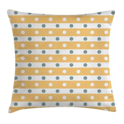 Stripes Dots Cushion Pillow Cover Size: 24 x 24