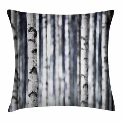 Birch Tree Trunks Grove Nature Square Pillow Cover Size: 18 x 18