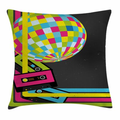 Retro Disco Ball Square Pillow Cover Size: 16 x 16