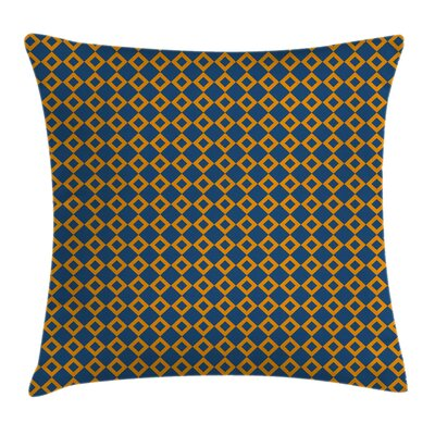 Squares Chain Mesh Tile Cushion Pillow Cover Size: 24 x 24