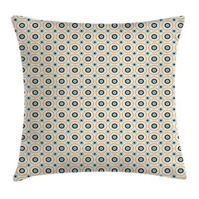 Circles Spotsful Square Pillow Cover Size: 16 x 16