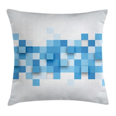 Modern Waterproof Square Pillow Cover with Zipper Size: 18 x 18