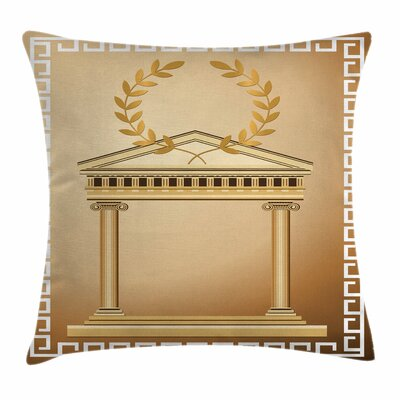 Temple Olive Branch Square Cushion Pillow Cover Size: 18 x 18