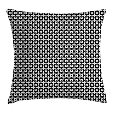 Modern Stain Resistant Geometric Pillow Cover Size: 24 x 24