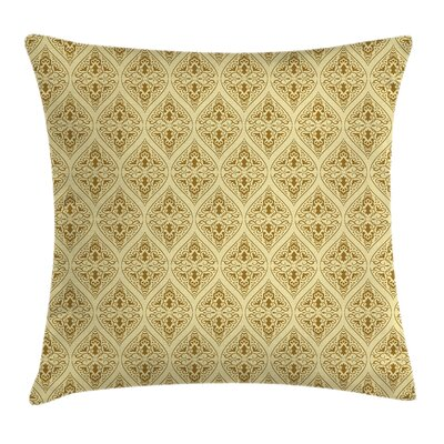 Damask Victorian Vintage Royal Cushion Pillow Cover Size: 20 x 20