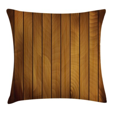 Plank Aged Timber Cushion Pillow Cover Size: 18 x 18
