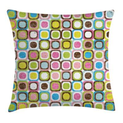 Geometric Art Cushion Pillow Cover Size: 18 x 18