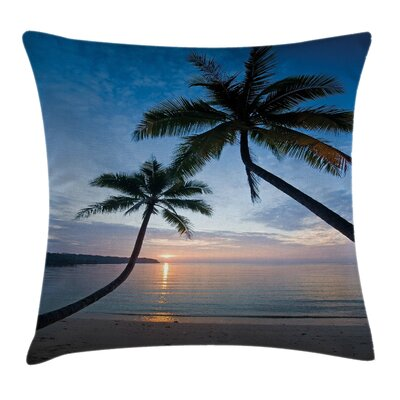 Sunset Beach Thailand Square Pillow Cover Size: 18 x 18